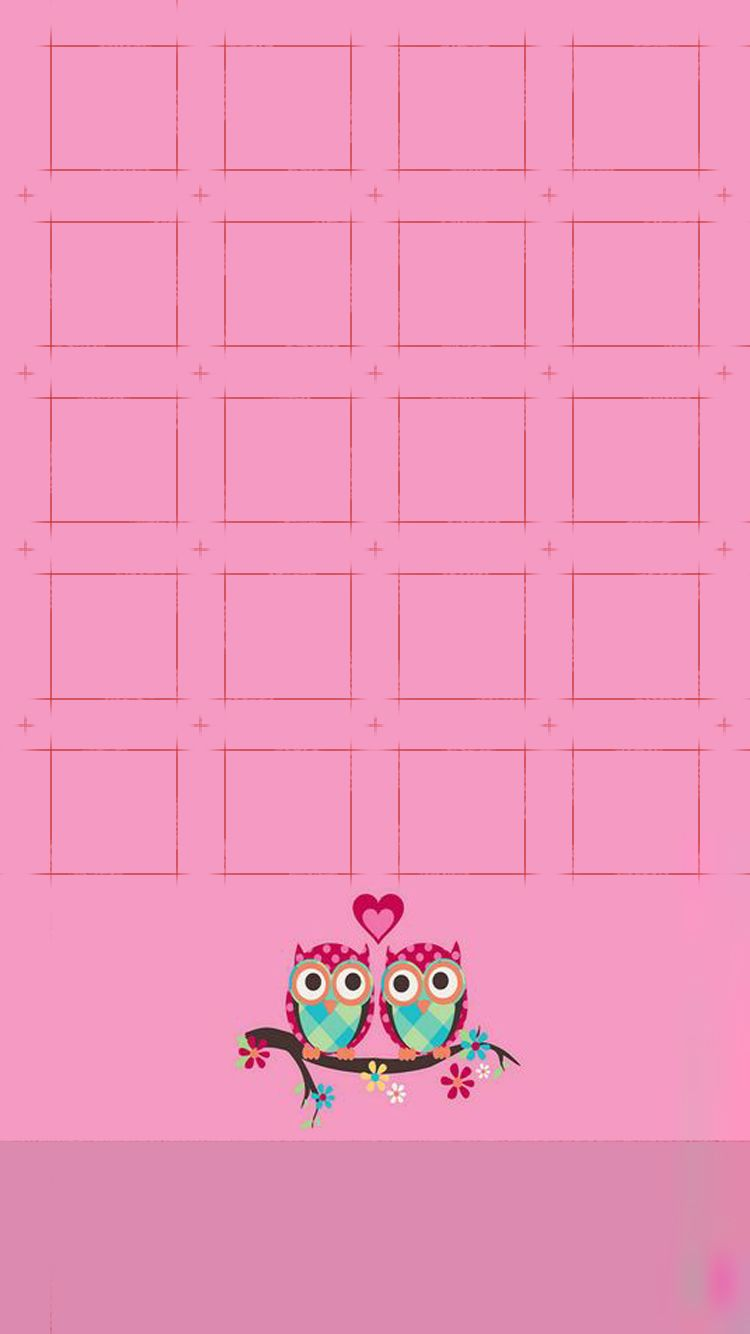 Shelves Icons Love Owl Cute Simple Girly Pink Light For Girls Pretty Heart Hd Iphone 6 Wallpaper