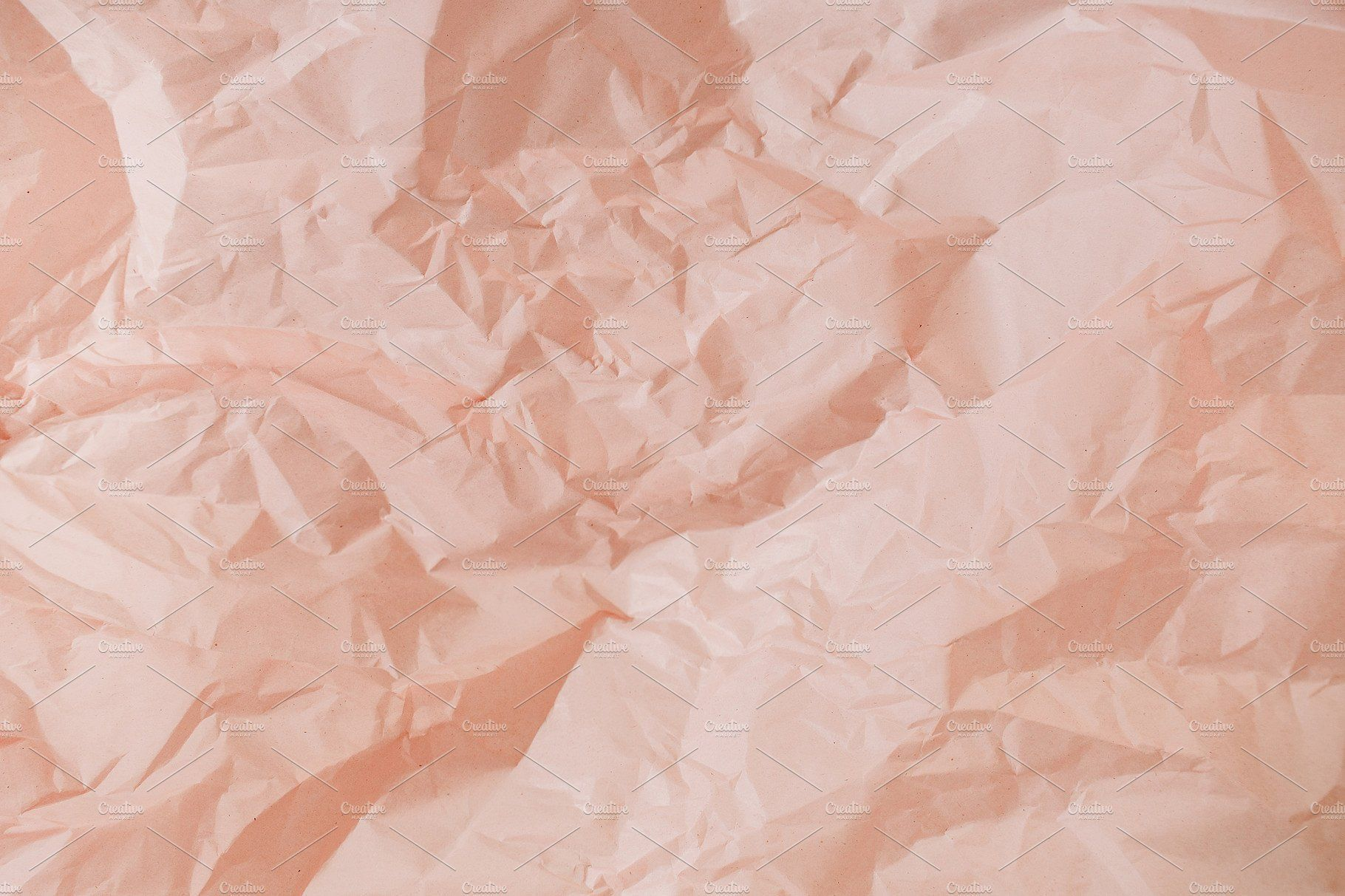 Crumpled Peachy Paper Texture Paper Texture Texture Photography Abstract Photographs