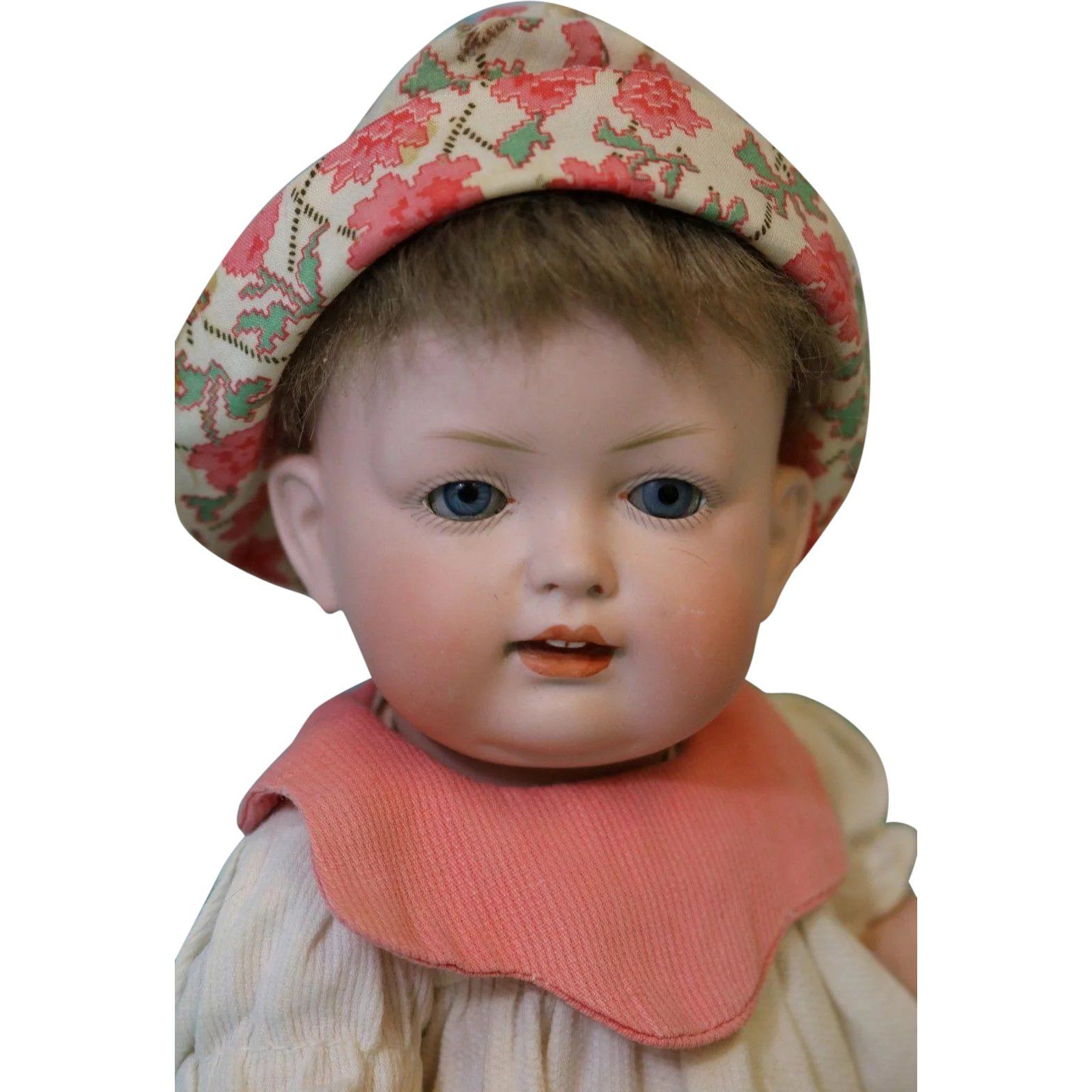 Antique 11 Inch Bahr Proschild German Bisque Baby Doll 604 Well Dressed Clean Dolls Baby Dolls Dress Cleaning