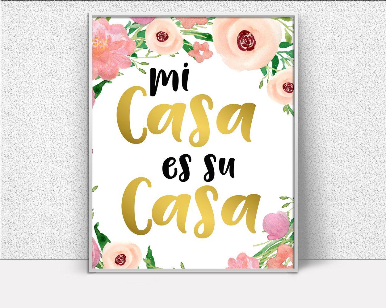 Mi Casa Es Su Casa, entryway decor, hallway wall decor, Wall art ...