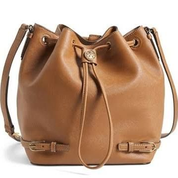 26879ee796 Tory Burch 'Robinson' Saffiano Leather Bucket Bag - Brown | Fab ...