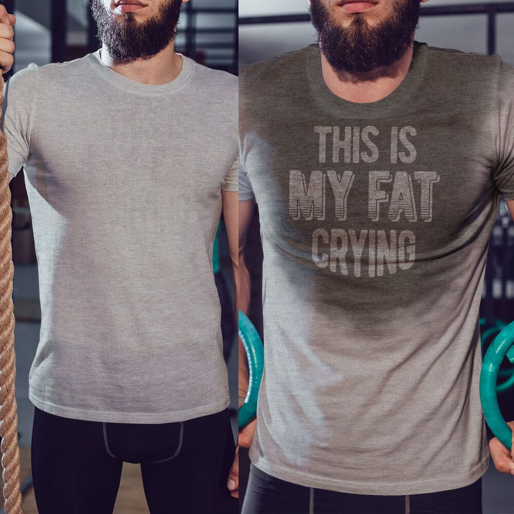 9a8bd6bde8 Sweat activated shirt with funny saying - Thi is my fat crying | Gym ...