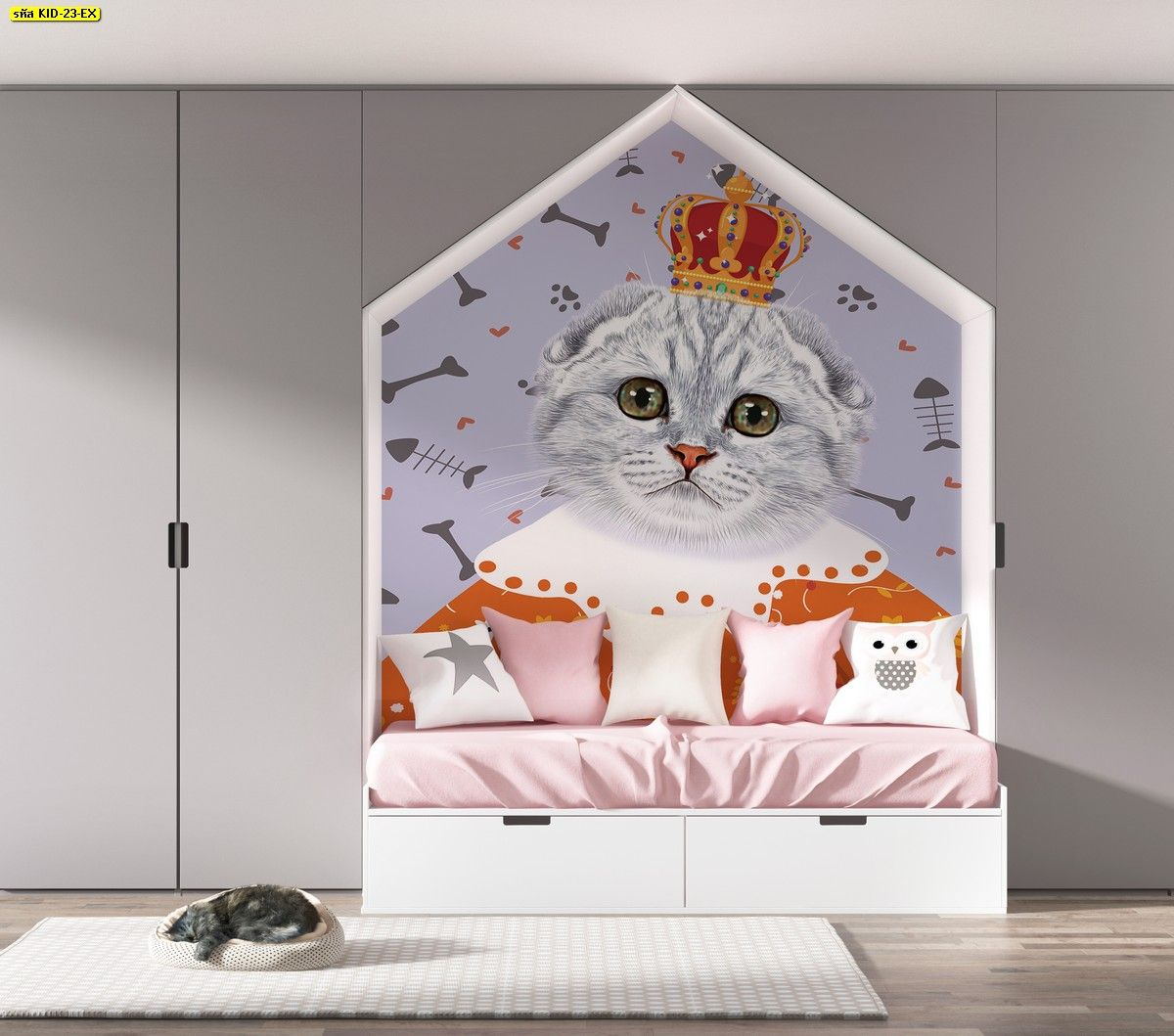 ห องนอนเด ก ร ปแมวต ดห อง วอลเปเปอร ห องเด ก ห องนอนเด ก วอลเปเปอร ต ดผน ง