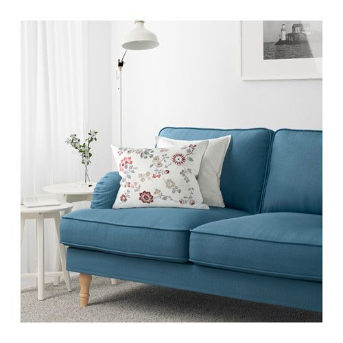STOCKSUND Sofa   Ljungen Blue, Light Brown   IKEA