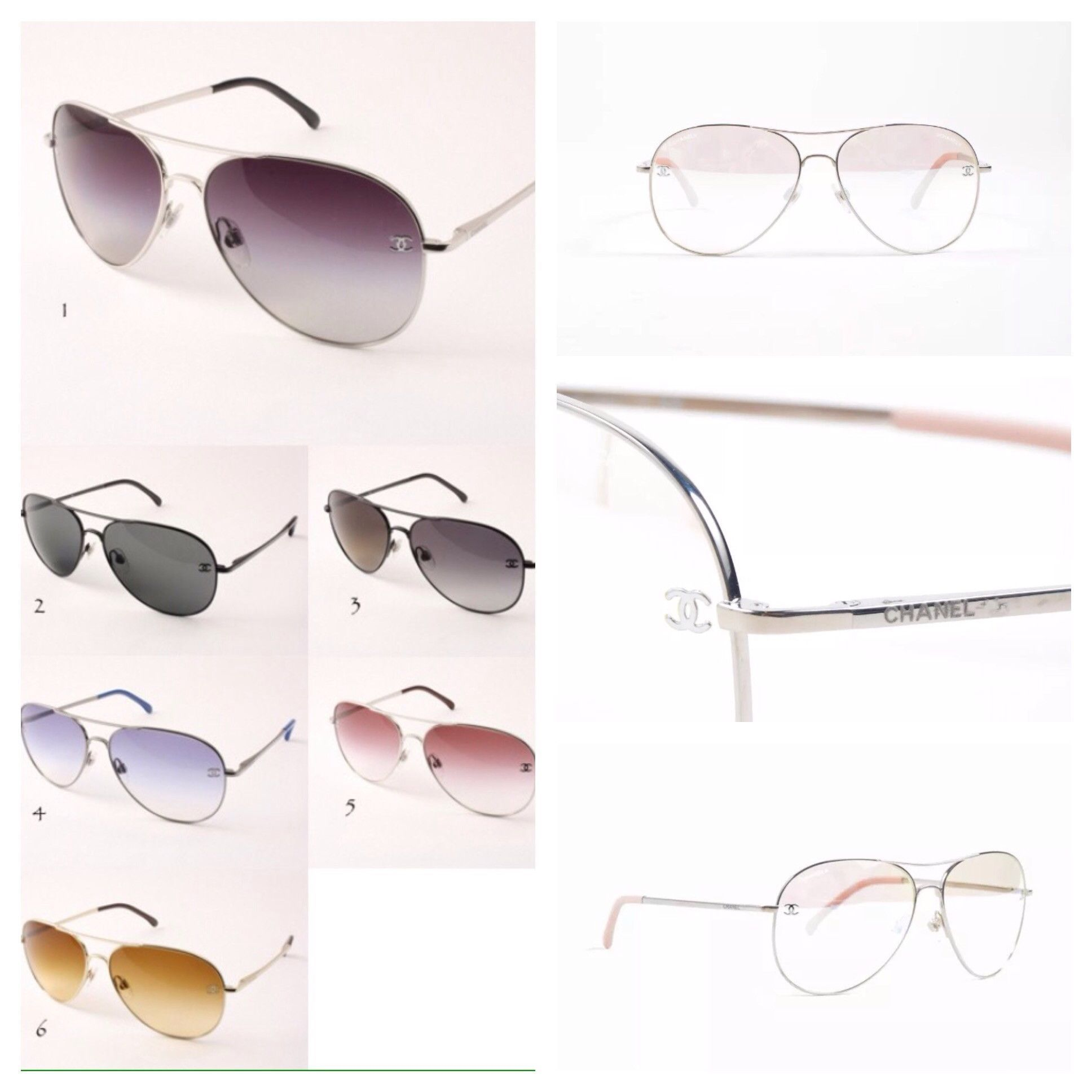 01958f096dd Chanel Aviator Sunglasses 4189