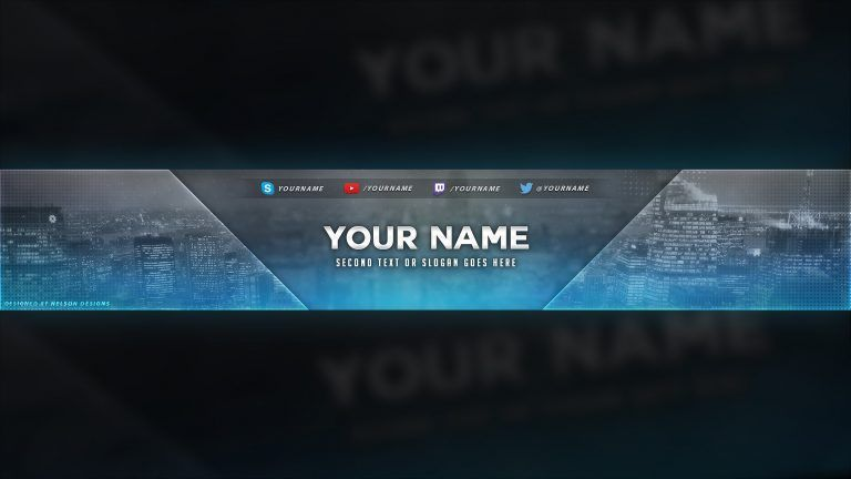 City Themed Youtube Banner Template Free Download Psd Youtube Youtube Banner Template Banner Template Banner Template Photoshop