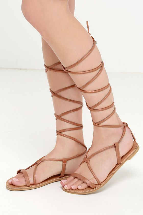 d322cdbc91f Sierra Madre Camel Leg Wrap Sandals in CAMEL in a 7.5 at Lulus.com! -  17.00