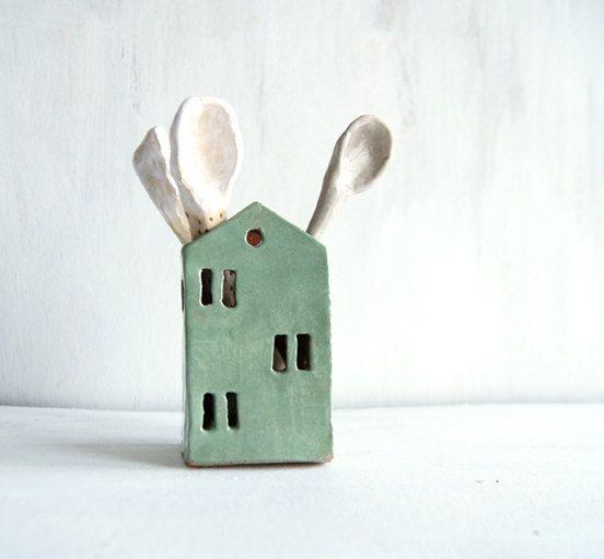 Keramik Haus-Utensil Halter-Küche Organizer-Keramik und Töpferei #kitchenstorage