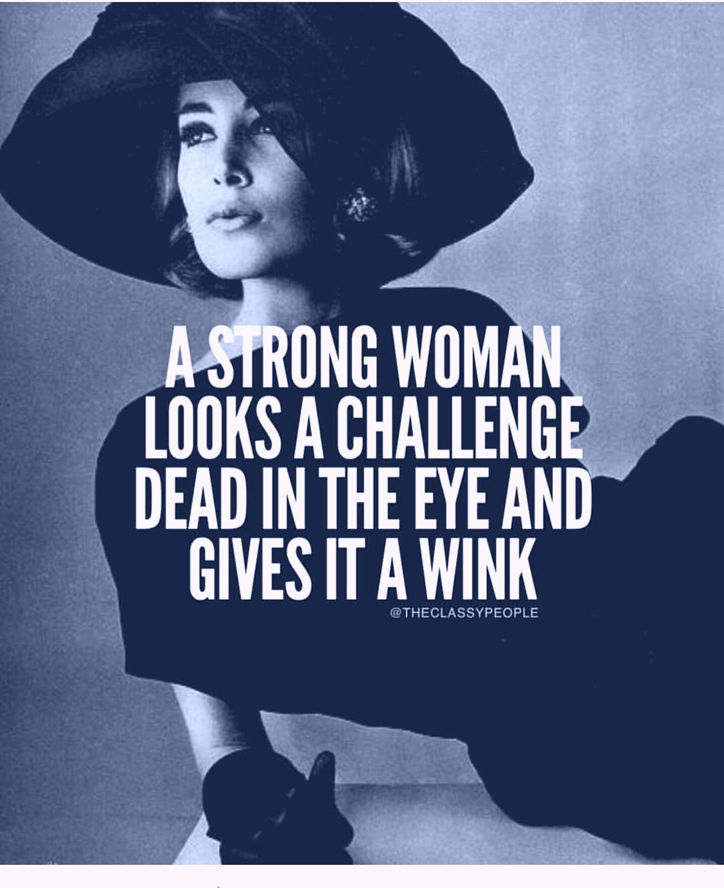 A Strong Woman Looks A Challenge In The Eye And Gives It A