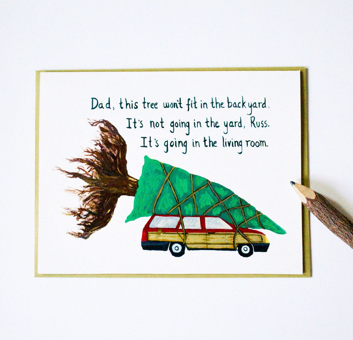 National Lampoon's Christmas Vacation card, clark griswold