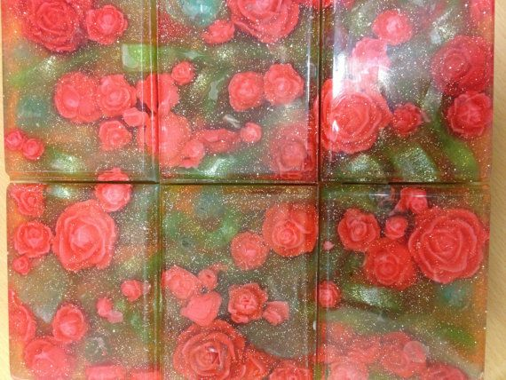 SLS free soap in rosé garden. Suitable for those with the most sensitive skin including eczema and psoriasis. on Etsy, £3.49
