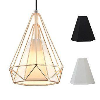 """1 Light Chandelier Chandeliers Lighting Top Mounted Hanging Ceiling Chandelier Fixture H10"""" x W8"""" Golden - - Amazon.com"""