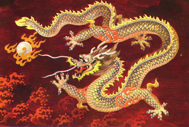 Chinese Dragon Art Wallpaper