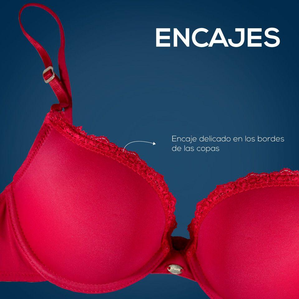 El rojo es pasión, es romance, es amor, es estilo, es sensual y aun más si lleva un encaje discreto y sencillo.
