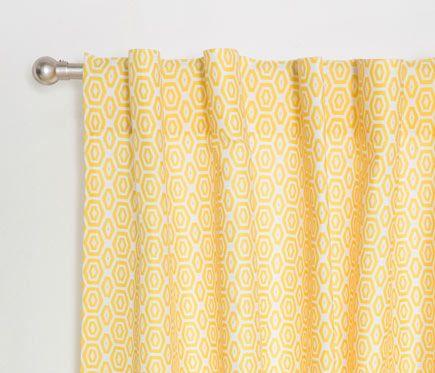 Cortina con trabillas ocultas marrakech amarillo leroy for Galeria cortina leroy merlin