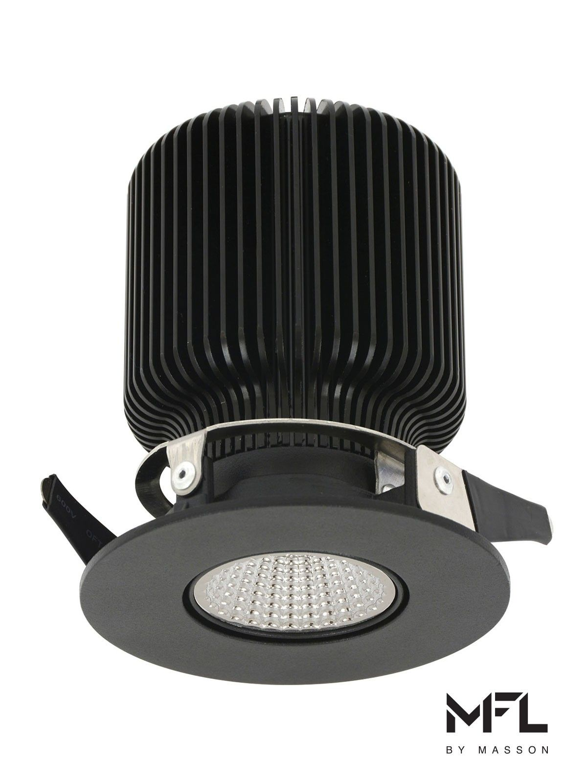 MFL By Masson Accent Gimble LED Dimmable Black Downlight