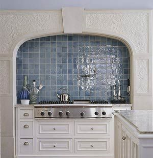 Kitchen Tiles Blue blue mosaic-tile backsplash french provincial wall i may like this