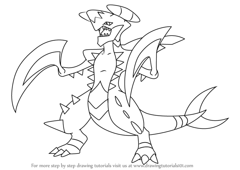 Learn How To Draw Garchomp From Pokemon Pokemon Step By Step Drawing Tutorials Pokemon Coloring Pages Pokemon Coloring Pokemon Rayquaza