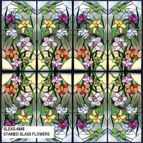 Stained Glass Window Tint Film Slexg 4848 Stained Glass Flowers Window Film Stained Glass Window Film Stained Glass Flowers Glass Flowers