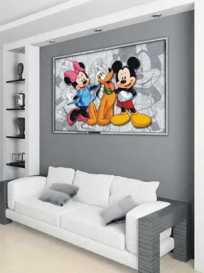 Disney Wall Paint Schemes Disney Mickey Mouse And Friends Wall