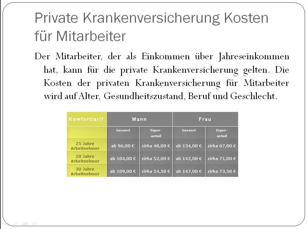 Pkv Kosten Fur Angestellte Krankenversicherung Deutschland Pinterest