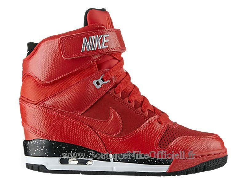 watch e08f3 23fe5 Boutique Nike Officiel Nike Air Revolution Sky Hi GS Chaussures Montante  Pour Femme Rouge 599410-