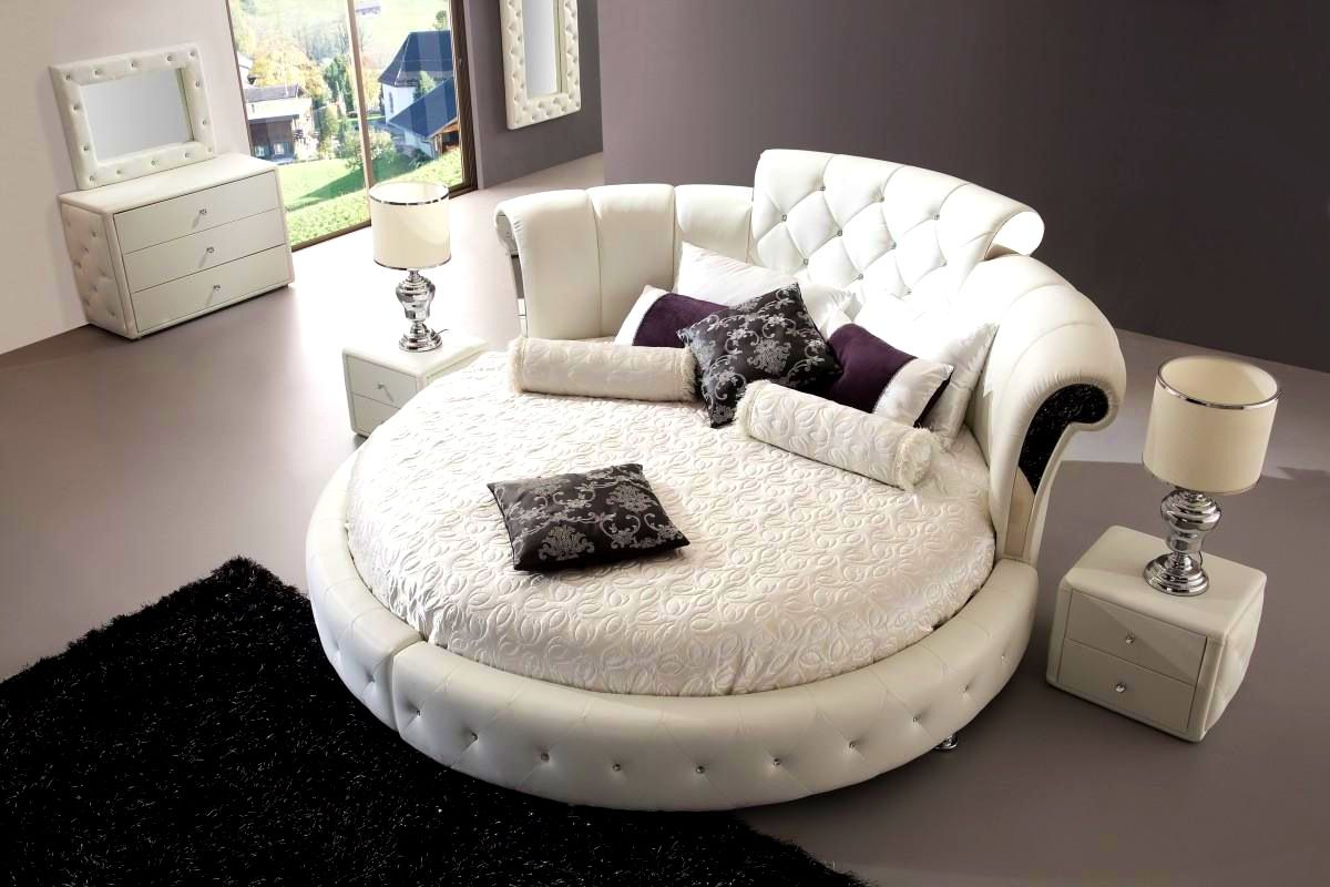 Bedroom : Charming Round Bed Ideas Unusual And Practical Frame Plans ...