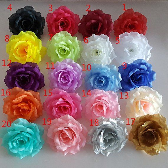 Silk Flower Heads Wholesale Silk Roses Heads 100 Flowers 10cm For