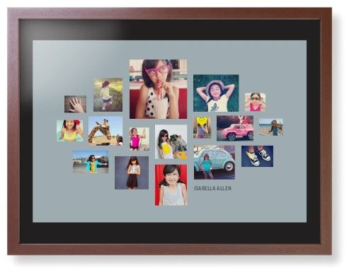 Gallery Collage of Seventeen Framed Print, Brown, Contemporary, Black, Black, Single piece, 24 x 36 inches