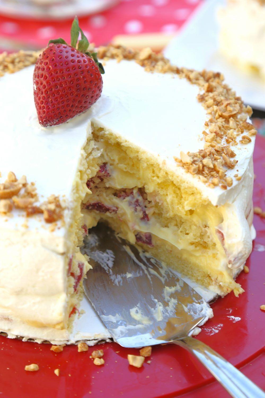 CustardFilled Victoria Sponge Layer Cake Recipe in 2020