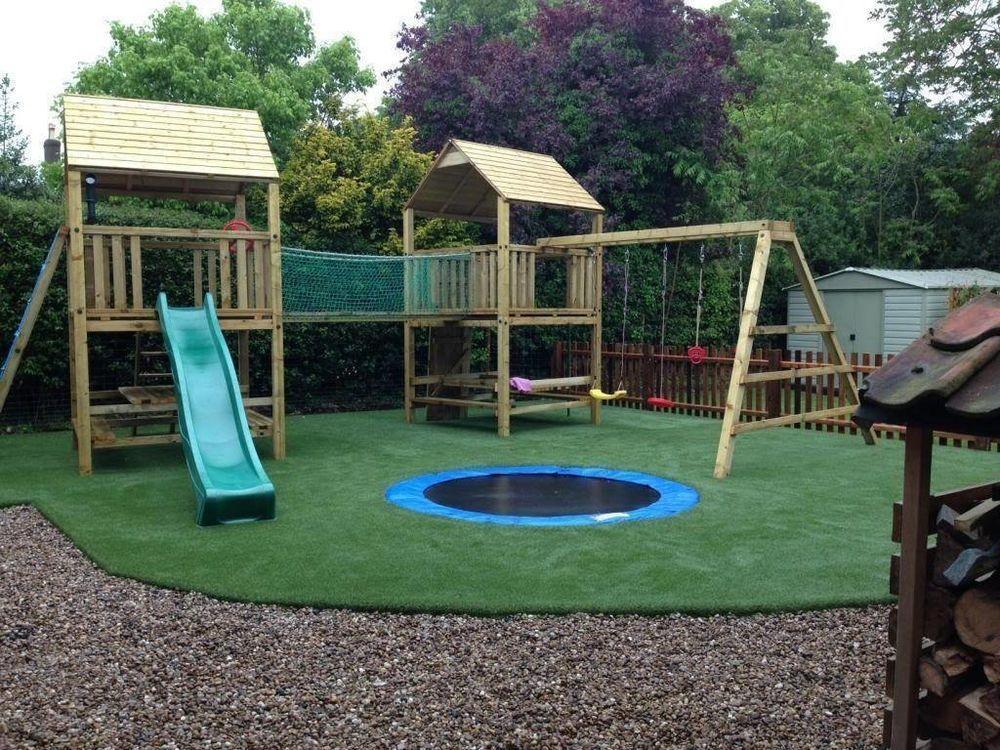 Outdoor Swing Set Tree Play House Kids Children Bar Large