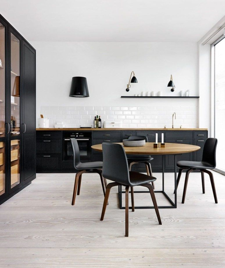 innovative black white wood kitchens design ideas also best home decor images on pinterest in future house rh