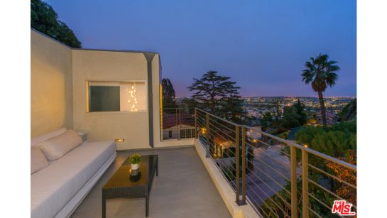 """Architectural Blaze of Glory High Above Sunset Strip: Brilliantly sited high above """"the Sunset Strip"""" with majestic city to ocean views, sits this thoughtfully designed Architectural blaze of glory. 