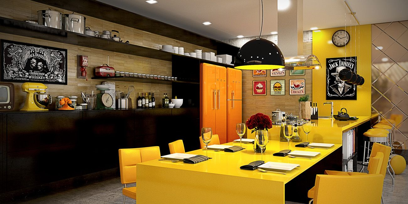 22 Yellow Accent Kitchens That Really Shine Yellow Kitchen