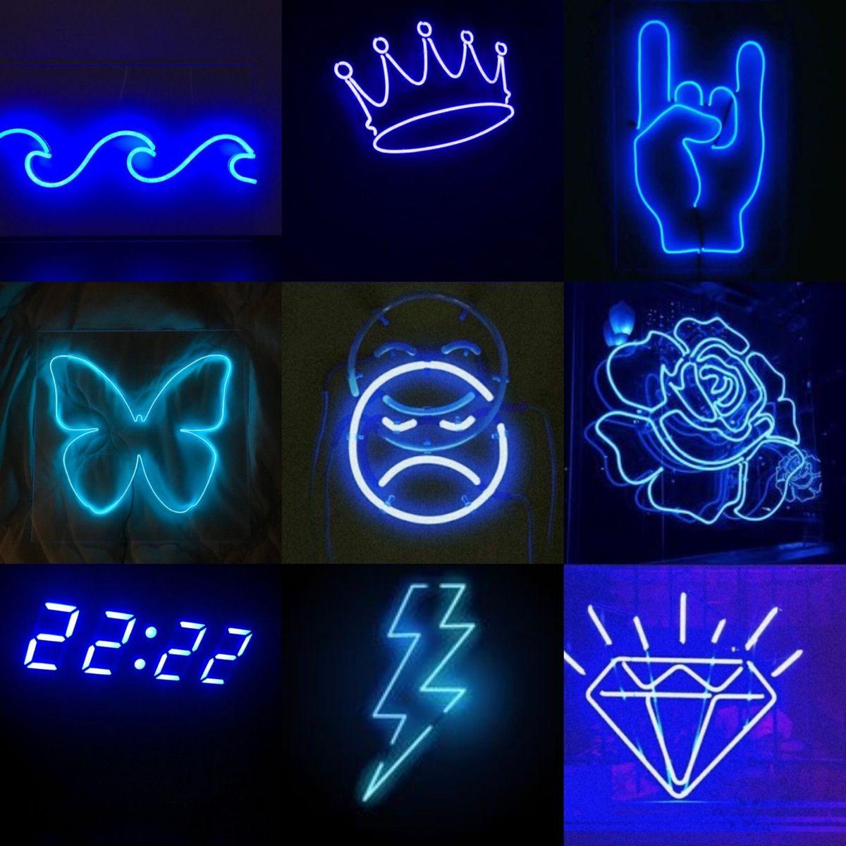 Aesthetic Dark Blue Wallpaper Blue Wallpaper Iphone Neon Wallpaper Electric blue neon neon wallpaper