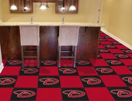 Arizona Diamondbacks Carpet Tiles Carpet Tiles Sports Themed