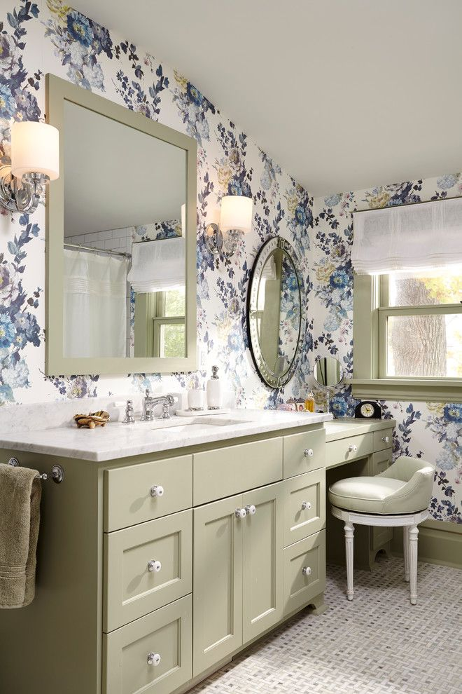 Beautiful Vanity with Makeup Counter for Ladies Bathroom