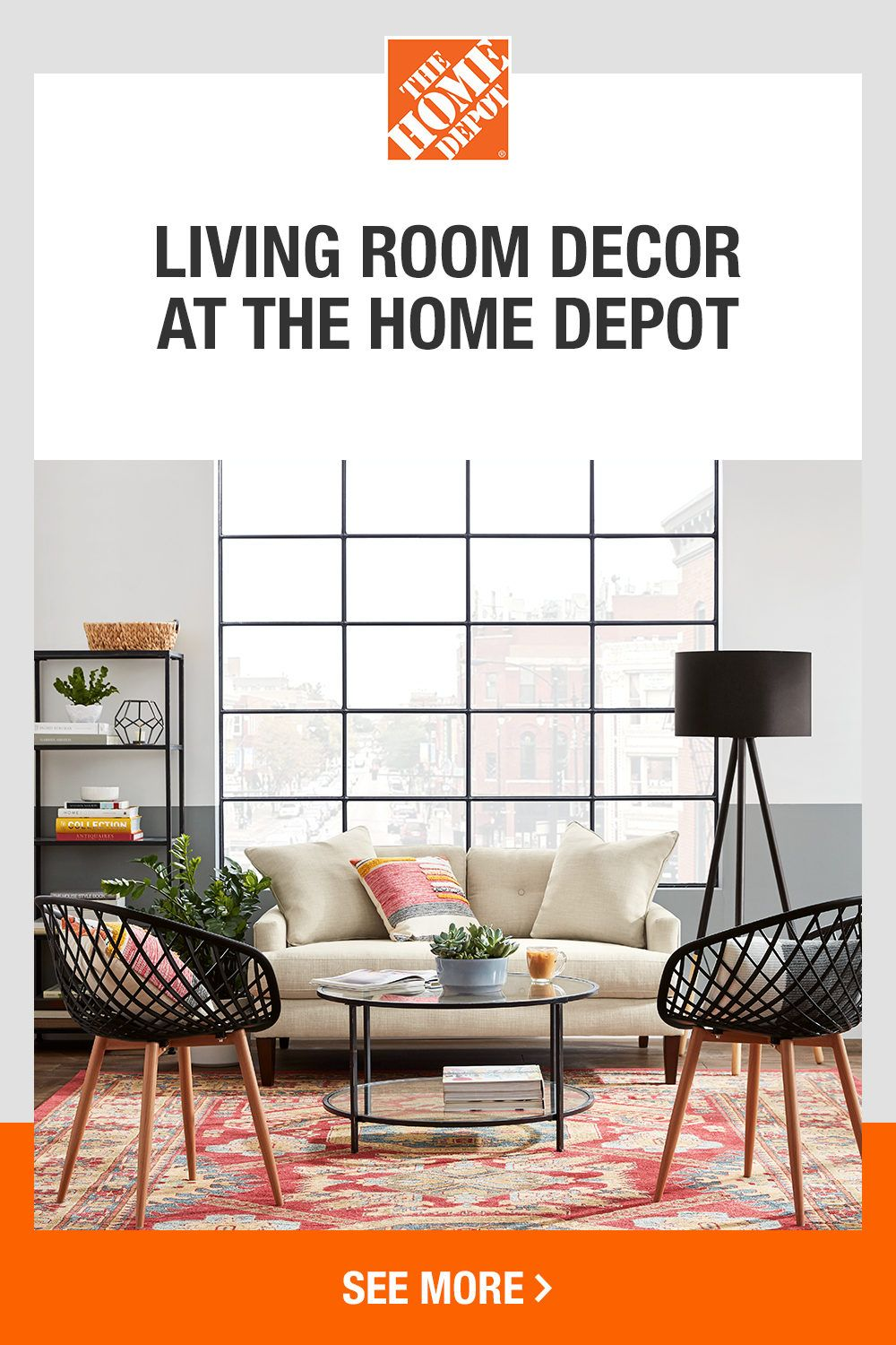 Living Room Decor at The Home Depot in 2020 | Living room decor, Room decor,  Living room
