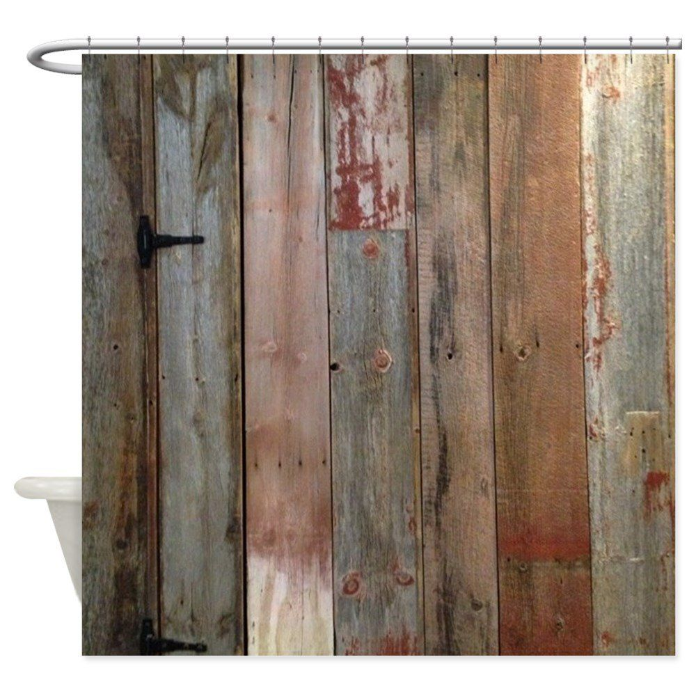 Amazon Com Cafepress Shower Curtain Rustic Western Barn Wood