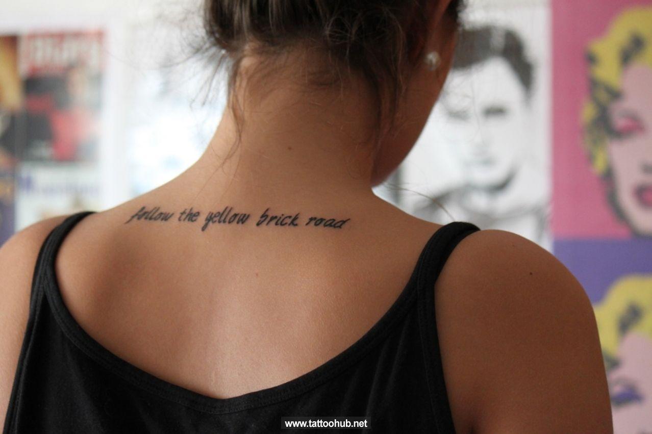 Upper Back Tattoo Script Google Search Tattoo Pinterest eecaff