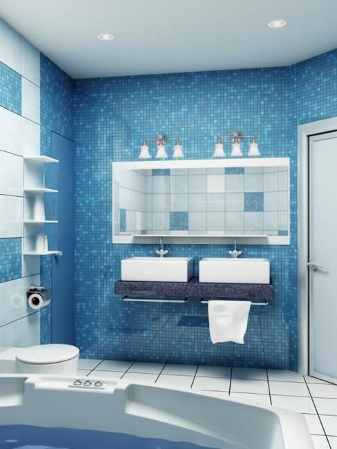 Best Photo Gallery For Website Blue and wood and white bathroom So fresh