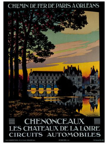 Chenonceaux Giclee Print Constant Leon Duval Allposters Com Vintage Travel Posters Travel Posters Travel Art