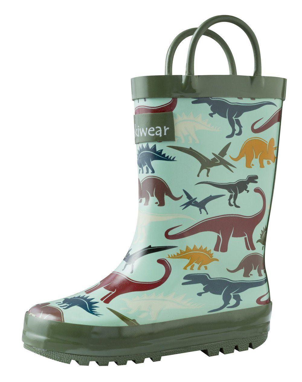 Children's Rubber Rain Boots, Earthy