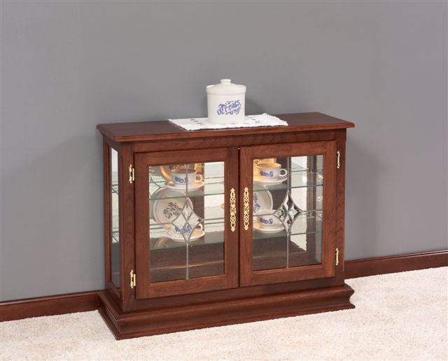 Amish Small Console Curio Cabinet Display Case Curio Cabinet