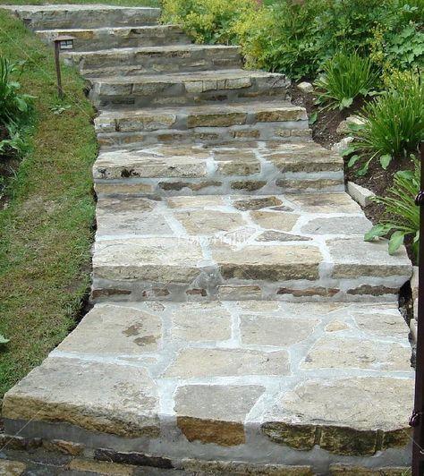 Comment réaliser soi même un escalier en pierre? Construction - realiser un escalier exterieur