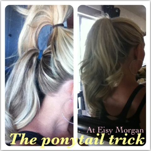 The Ponytail Trick Video Tutorial. How to make your ponytail look longer. ~ Eisy Morgan