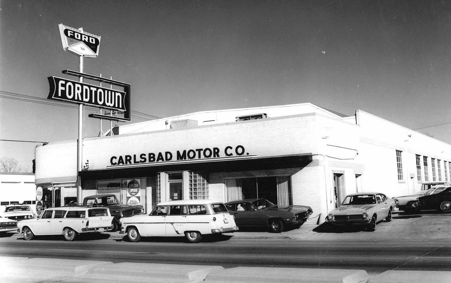 Ford Dealership Circa 1970 Carlsbad Dealership Car Dealership