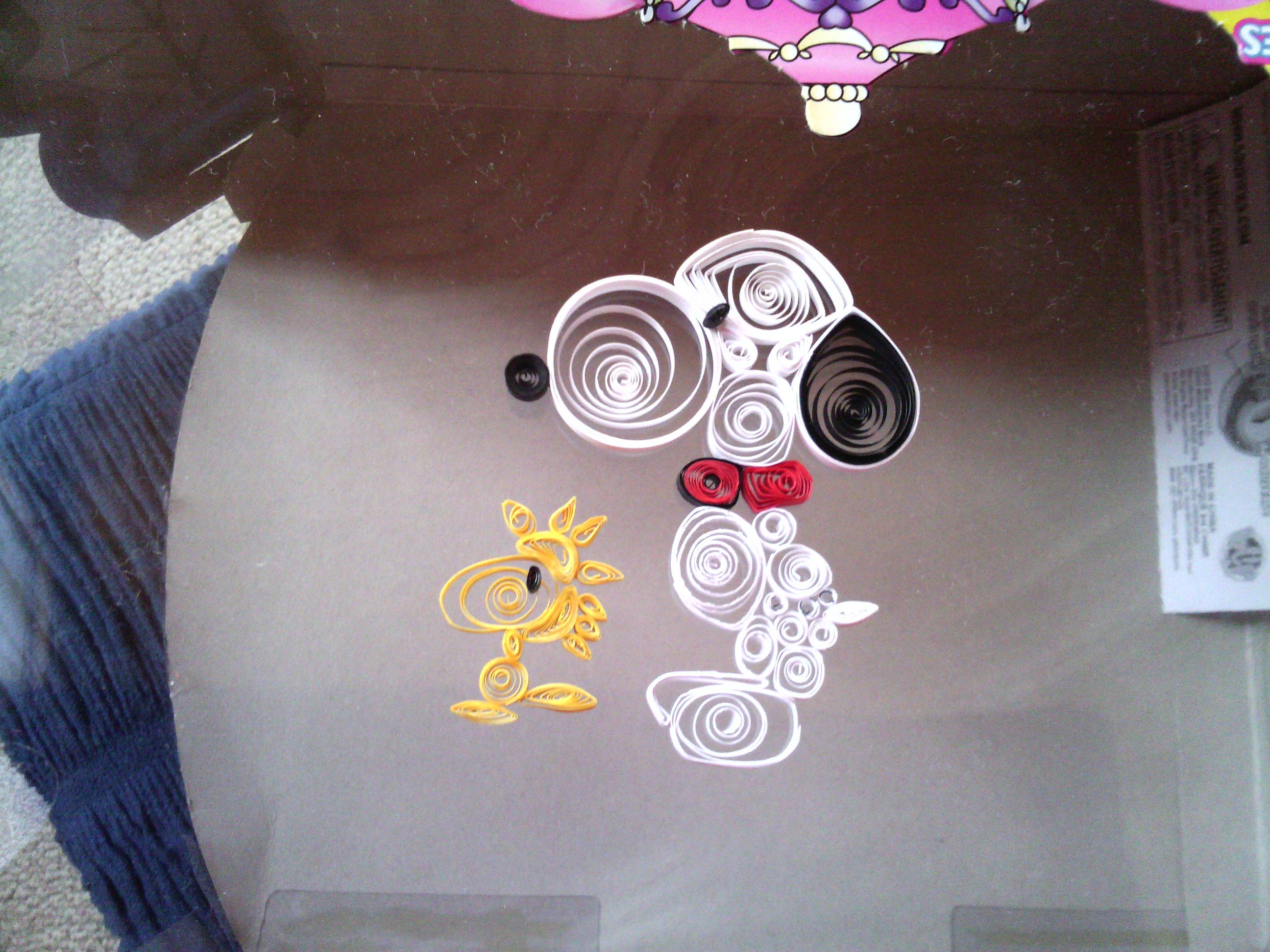 Cute snoopy and Woodstock quilling pattern I made it up with my sister so you can't find it anywhere else.