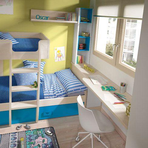 Literas o camas tren cama tren de la colecci n niu de - Habitaciones infantiles tren ...