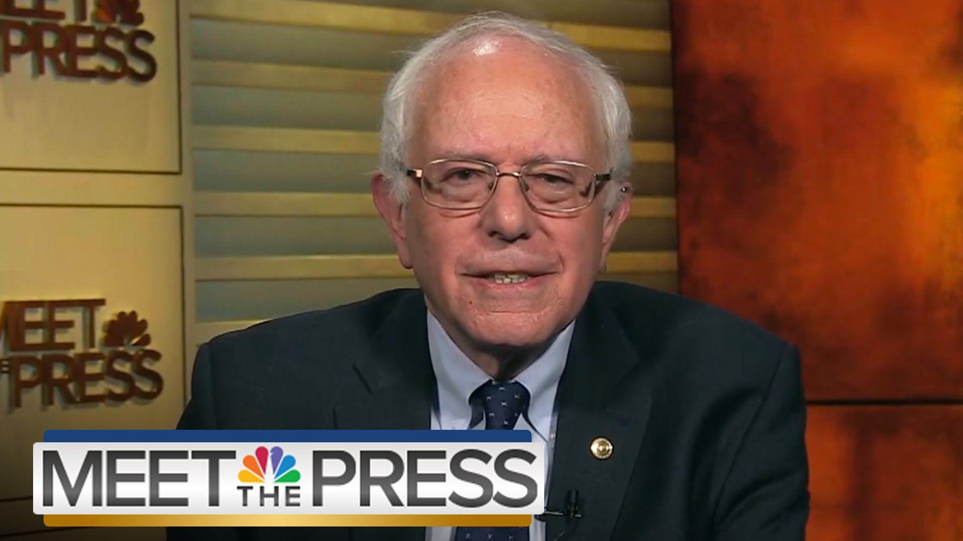 Bernie Sanders On Trump, ISIS, Economic Inequality   Meet The Press   NB...